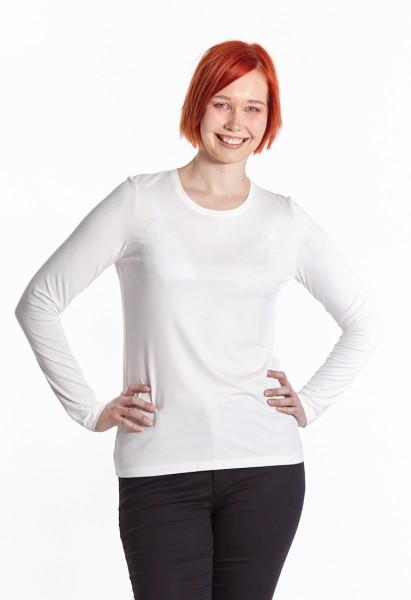 Langarm Shirt Rundhals, off-white
