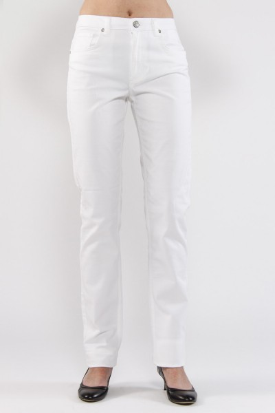Martha Jeans straight cut, weiss