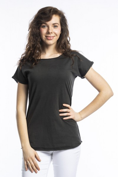 Organic cotton T-shirt anju, anthracite