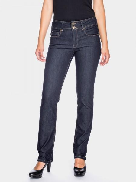 I LOVE TALL ATO Berlin Jackie slim fit Jeans extra lang für die grosse Frau 38 Inch Innenbeinlänge, blue rinsed (vorne)