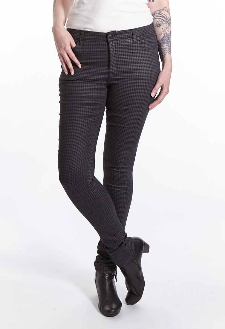 7,20 €//M 50 cm tricot tissu jersey pied de poule motifs noir gris