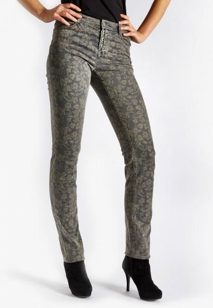 S-Bona Button jean avec imprimé, gris denim