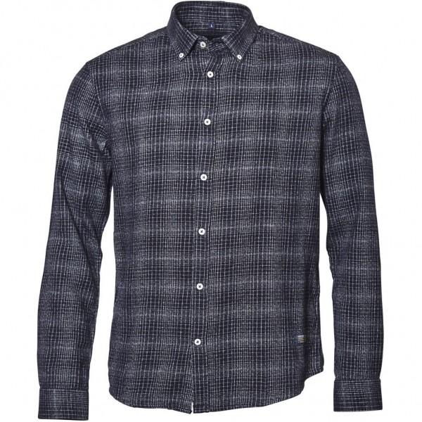 I LOVE TALL Langarmhemd extra lang, schwarz grau kariert