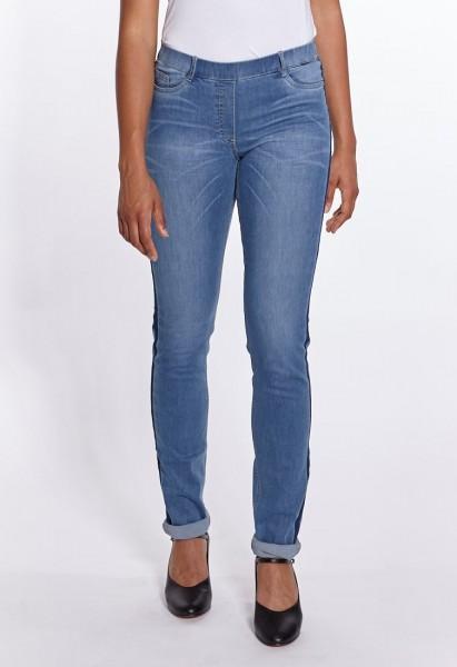 Janna Fashion Jeans mit Naht L38, mid-blue
