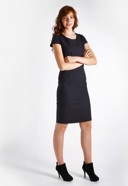 Keck-Kleid / Etuikleid angeschnittener Arm, dunkel blau