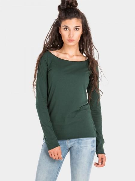 Organic Cotton Langarm Shirt Arista, dunkel grün