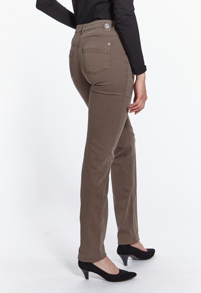 CS-Ronja slim fit trousers cotton satin L38 inches