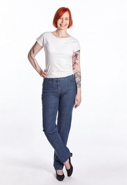 Sally Jeans leichter Denim, blue rinse