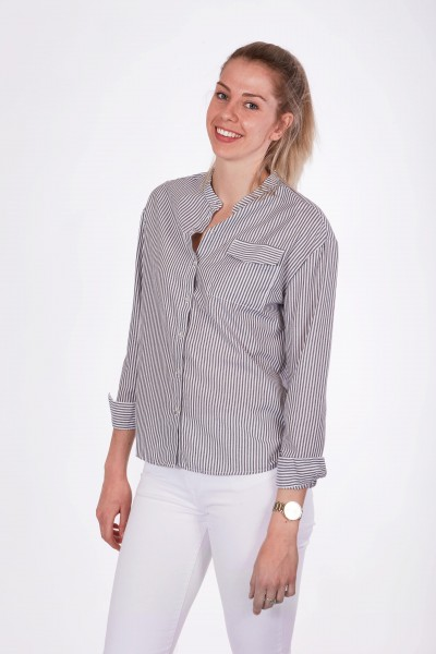 Striped Blouse with collar
