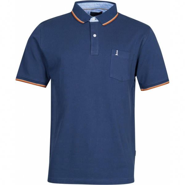 Polo t-shirt with contrast stripes on collar