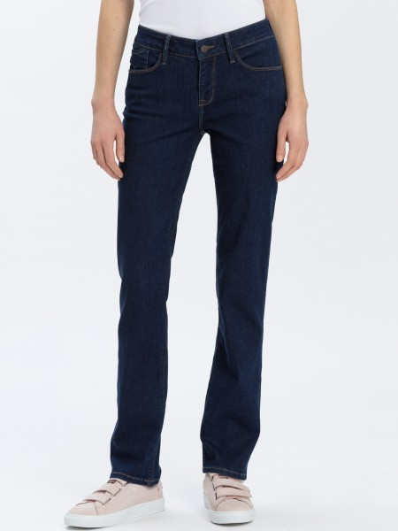 Cross jeans Rose straight leg L36 inches, clean dark blue