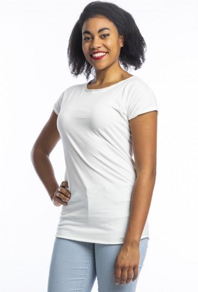 Coton organique t-shirt Anju, blanc