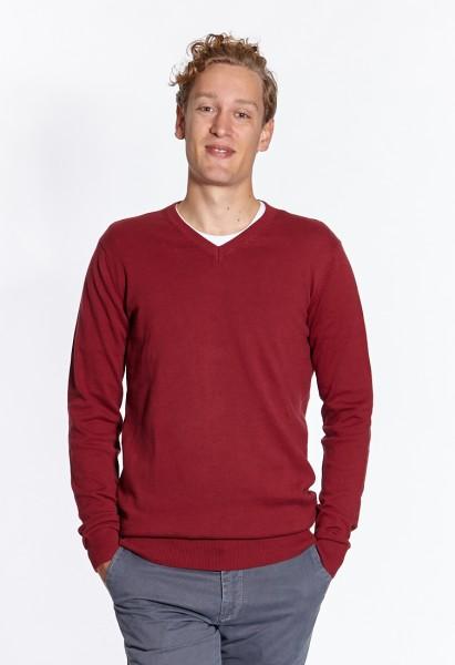 I LOVE TALL Langgrössen für Männer Feinstrickpullover rot vorne