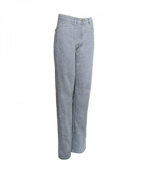 Sally Jeans mit weitem Bein, grau rinse