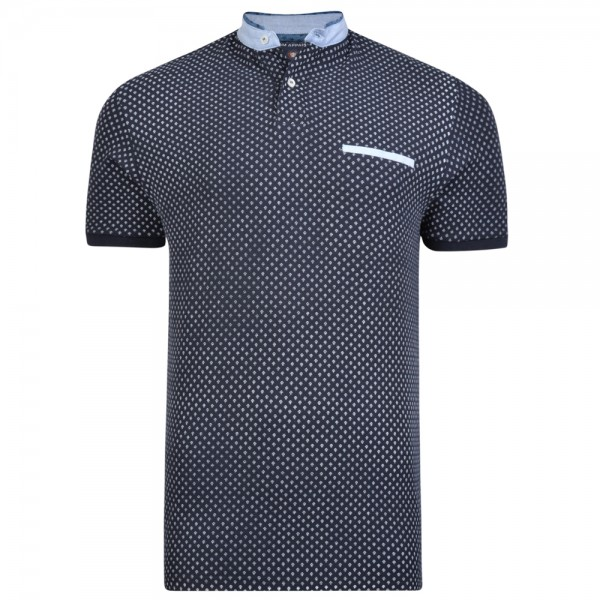 I LOVE TALL Poloshirt extralang in Langgrösse schwarz