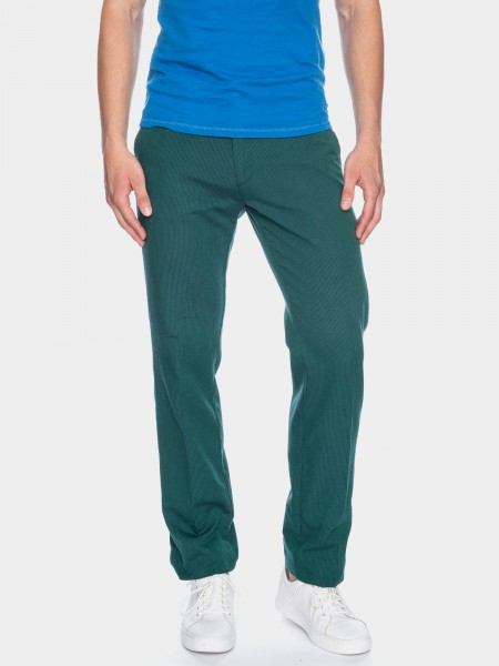 Classic trousers Jorjo with stripes L38 inches, green blue