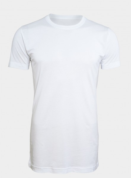 I LOVE TALL Langer Jung Bambusviskose T-Shirt extra lang Langgrösse weiss