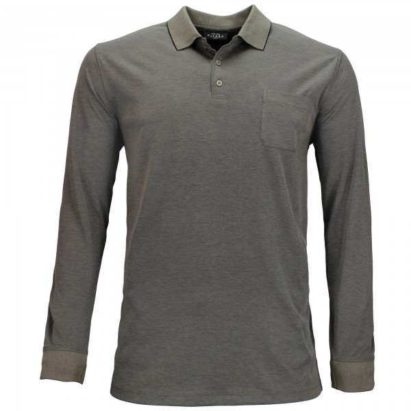 Long sleeve shirt with polo collar