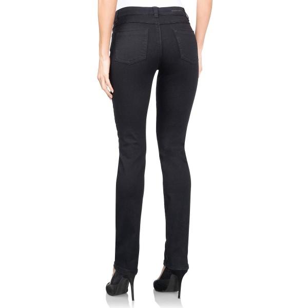 I LOVE TALL wonderjeans Classic extra lange Jeans für die grosse Frau, schwarz hinten