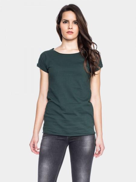 Coton organique T-shirt Anju, vert foncé