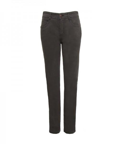Lena 5-Pocket-Style Hose, gerader Schnitt, taupe