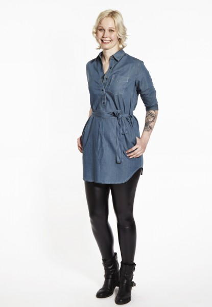 Denim robe-tunique