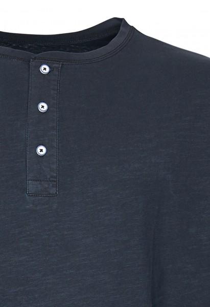 T-shirt avec patte de boutonnage, noir