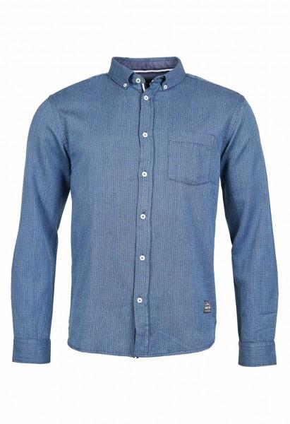 Chemise à manches longues avec un fin motif à chevrons