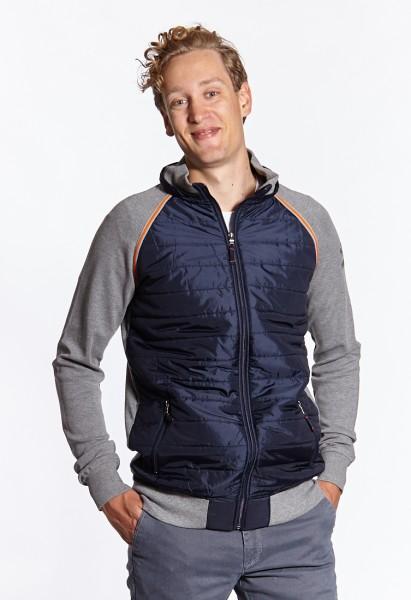 I LOVE TALL Langgrössen für Männer Sweatshirt Jacke mit Kapuze vorne