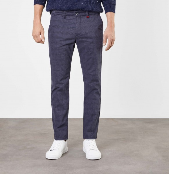 MAC Lennox Chino trousers L38 inches, blue check