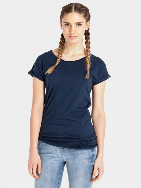 Organic Cotton T-Shirt Cleo, dunkelblau