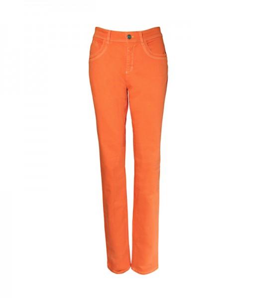 Lena 5-Pocket-Style Hose, gerader Schnitt, mandarin orange
