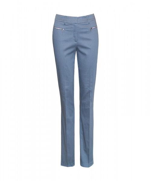 Habatt schmale Hose blau mit Krawatten-Muster