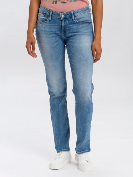 Cross Jeans Rose Straight Leg L36 Inch, crinkle blue used