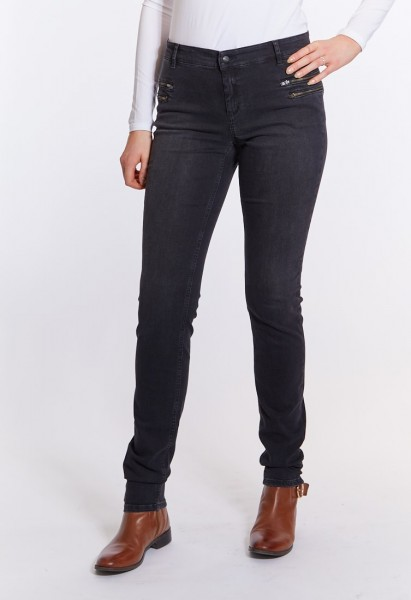 Power Zip Skinny Fit Jeans L38 Inch, anthrazit used