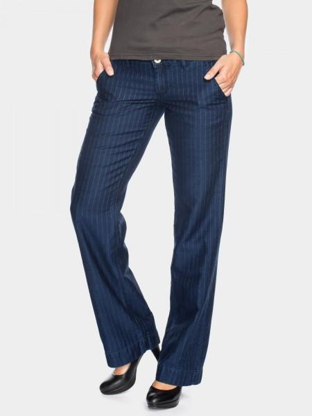 Pantalons Lilia bootcut jambe ample L36 pouces, bleu carreaux