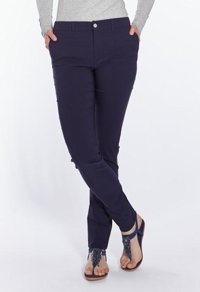Eva slim fit pantalons L38 pouces, bleu marine