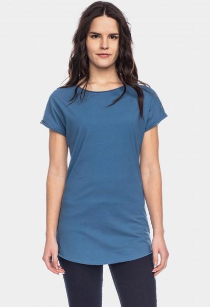 T-shirt en coton biologique Anju, bleu stellaire
