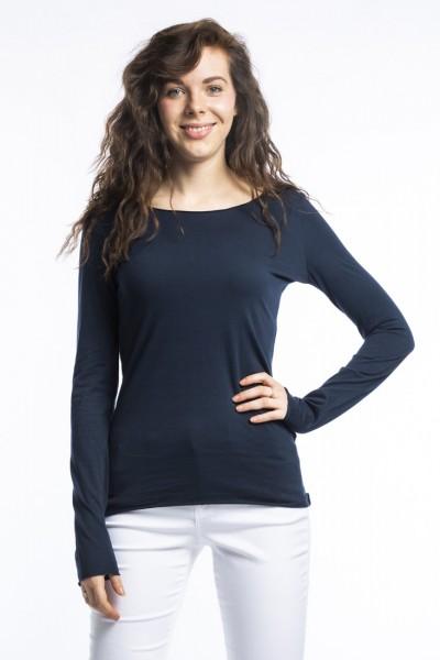 Organic Cotton Langarm Shirt Arista, dunkel blau