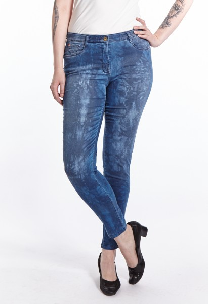 Sandy Jeans, blue stone mit Muster