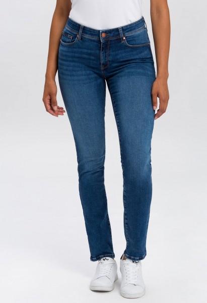 Cross Jeans Anya Organic Cotton Slim Fit L36 Inch, dark mid blue