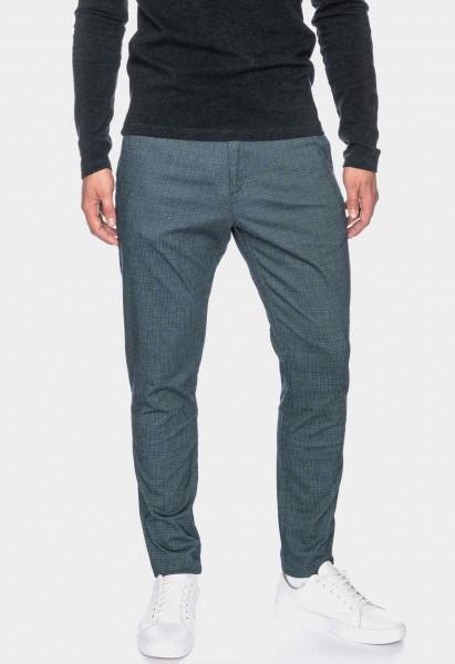 Chino pants Bull L36 inches, gray green fine checkered