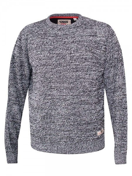 Knitted jumper Joey D555, grey marl
