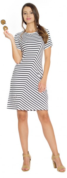 Summerdress Kava, white with blue stripes