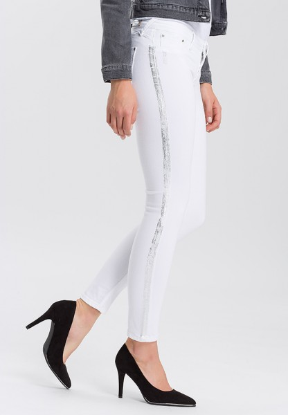 Cross Jeans Jeggings Adriana extra Skinny L36, white silver