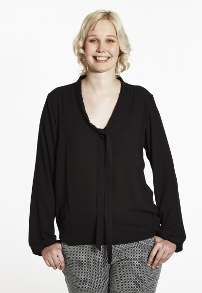 Bluse mit Schleife, black