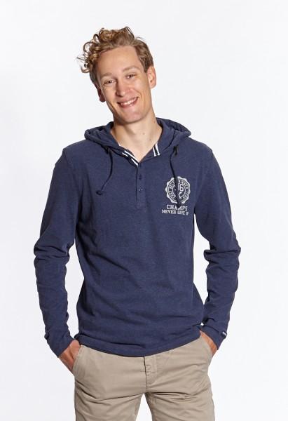 I LOVE TALL Langgrössen für Männer Sweatshirt mit Kapuze navy vorne