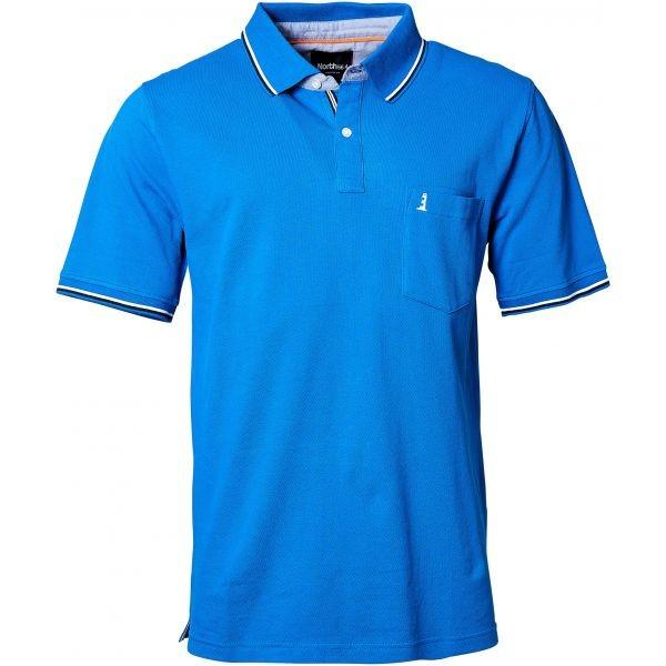 I LOVE TALL North 56°4 Poloshirt kurzarm extra lang Langgrösse blau