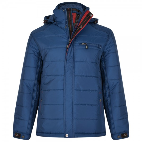 I LOVE TALL Winterjacke extra lang in Langgrösse blau