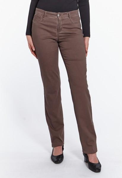 Pantalon Luna coupe large L36 inch, marron chocolat